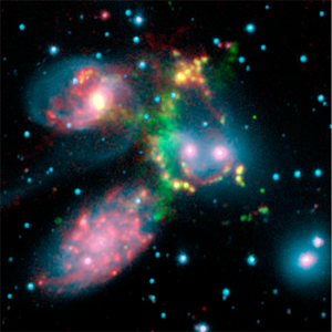 Stephan's Quintet infrared-optical